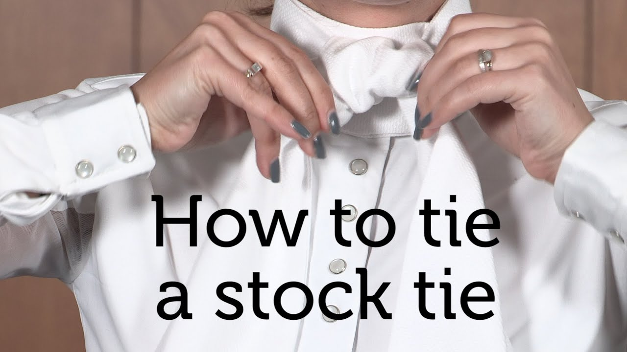 da61bbe5 How to tie a stock tie - YouTube
