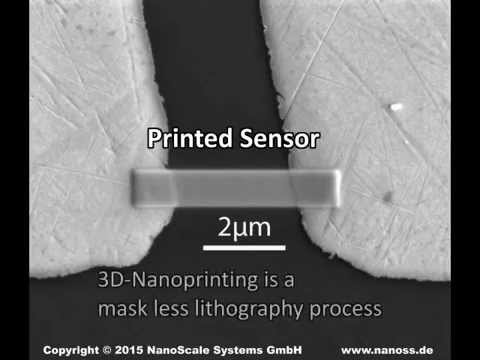 3D Printing of a sensor on the nano scale in a scanning electron microscope (SEM)