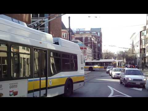 Trolleybuses (Trackless Trolleys) in Boston, USA