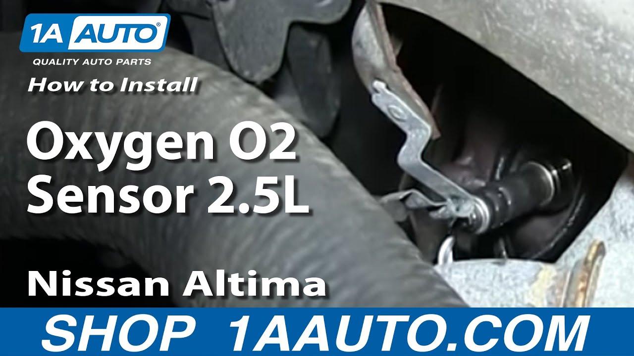 How to Replace O2 Oxygen Sensor 02-03 Nissan Altima  Sensor Altima Wiring Diagram on