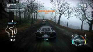 NFS The Run - Lamborghini Aventador - Woods - i7 2600K - XFX HD 6870
