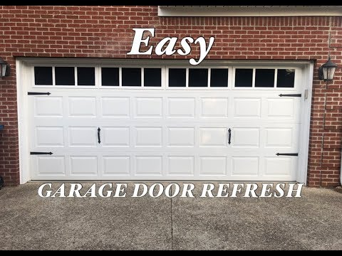 Garage Door Update with carriage house windows and hardware