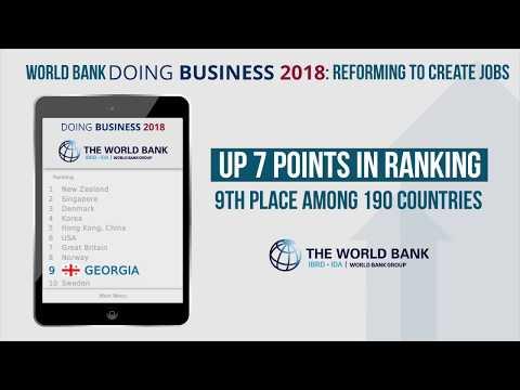 World Bank's Doing Business 2018: Georgia #9