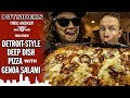 The Outsiders' Genoa Salami Detroit-Style Deep Dish Pizza Food Review