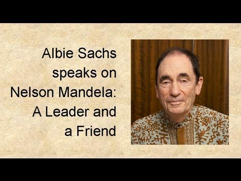 "Albie Sachs speaks on ""Nelson Mandela: A Leader and a Friend"""