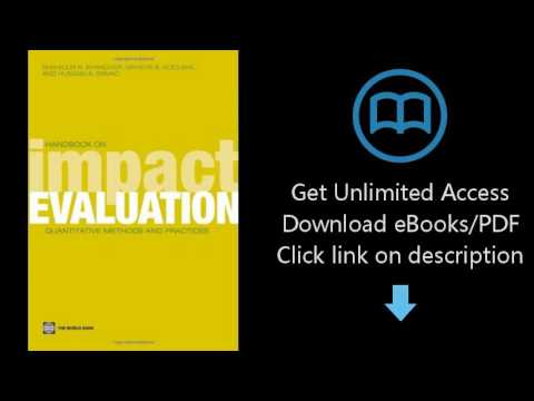 Download Handbook on Impact Evaluation: Quantitative Methods and Practices (World Bank Training  PDF