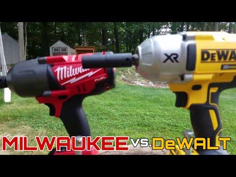 Milwaukee 18v Fuel (2763-20) vs DeWalt 20v XR Impact Wrench (DCF899B) Lag Bolt Face Off in 4k