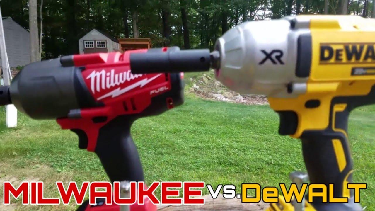 dewalt impact driver vs drill. milwaukee 18v fuel (2763-20) vs dewalt 20v xr impact wrench (dcf899b) lag bolt face off in 4k - youtube dewalt driver drill