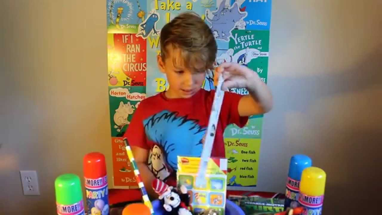 NINJA TURTLE/DR.SUESS EGG SURPRISES and SILLY STRING!