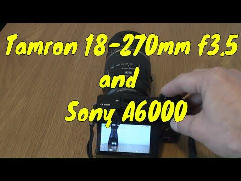 Tamron 18-270mm F3.5 - 6.3 Di Ii Vc Pzd Model B008+Sony Alpha A6000