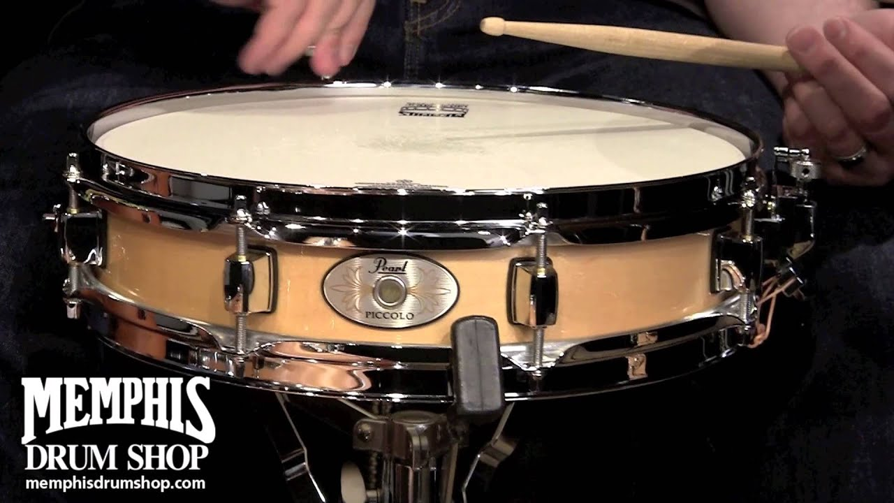 pearl 13 x 3 maple piccolo snare drum natural youtube. Black Bedroom Furniture Sets. Home Design Ideas