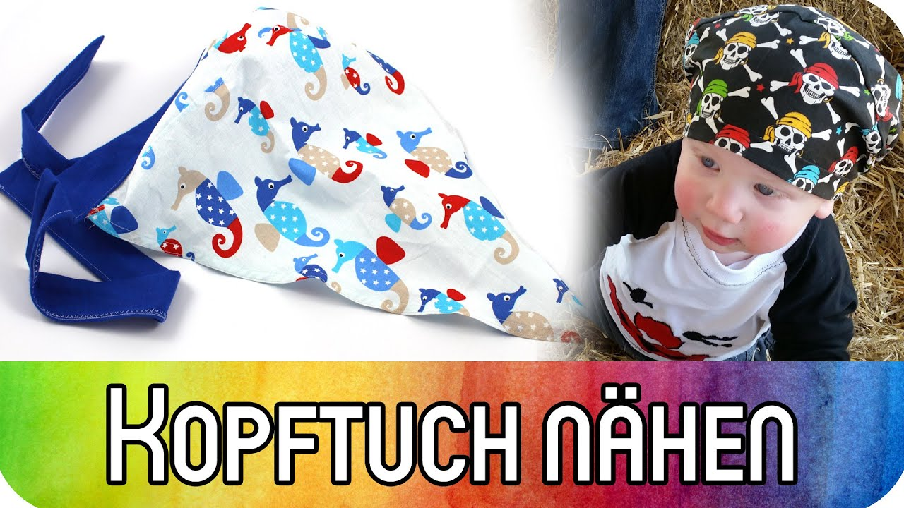 Nähen für Anfänger: Kopftuch für Babys und Kinder nähen ...