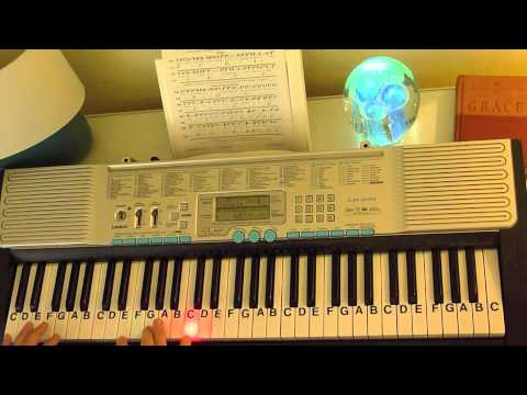 How to Play ~ Here Comes Peter Cottontail ~ Easter Bunny Song ~ LetterNotePlayer ©