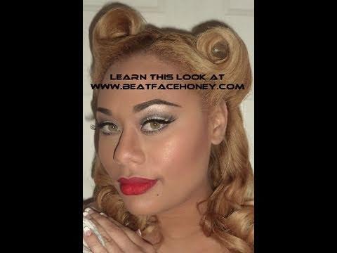 simple pin up girl makeup  youtube