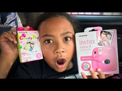 INSTAX MINI 9 - HOW SHE GOT HER FIRST CAMERA - UNBOXING, FIRST SHOT | Planet Michaels