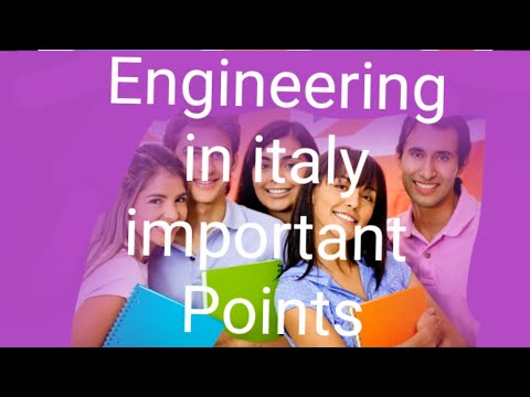 Engineering  in italy  / How to get  admission  in italy  / Admission in italy  important Points  /
