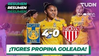 Resumen y Goles | Tigres 4 - 0 Necaxa | Liga MX Femenil - J 14 - AP 2019 | TUDN