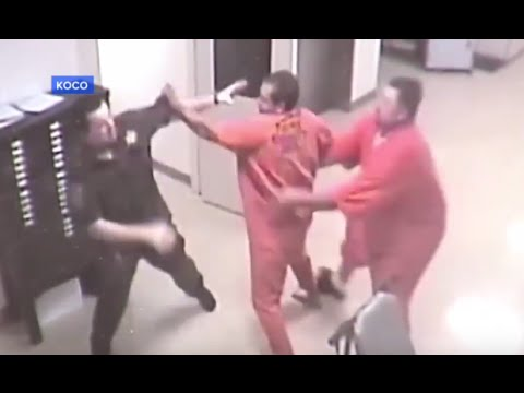Inmate Helps Jailer Being Attacked [CAUGHT ON TAPE]