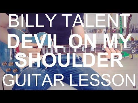 Billy Talent: Devil on my shoulder (GUITAR TUTORIAL/LESSON#53)