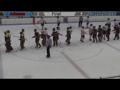 Arkansas DI vs Arizona State DI ACHA Hockey