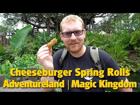 Cheeseburger Spring Rolls in Adventureland | Magic Kingdom