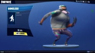 FORTNITE BONELESS DANCE EMOTE BASS BOOSTED