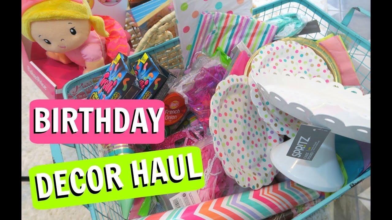 Huge Birthday Decor Haul 1 Year Old