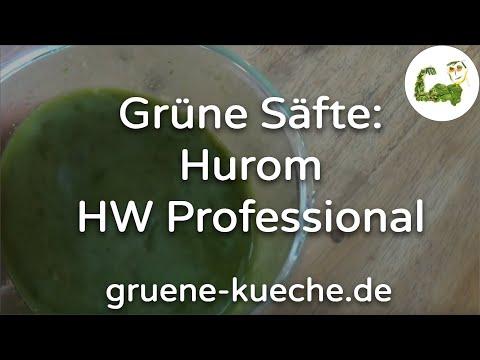 Hurom HW Professional - Weizengras und Gurke entsaften