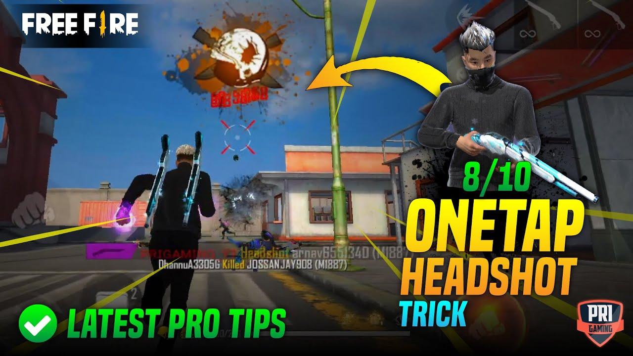 Download FREEFIRE LATEST 8/10 ONETAP AUTO HEADSHOT TRICK | How to Give Onetap Headshot in Freefire ?