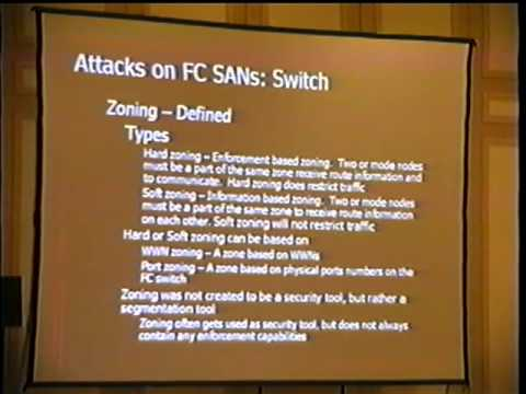 Black Hat USA 2003 - Security Issues with Fibre Channel Storage Networks (SANs)