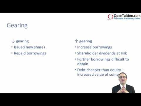 CIMA F2 Solvency/Gearing/Risk