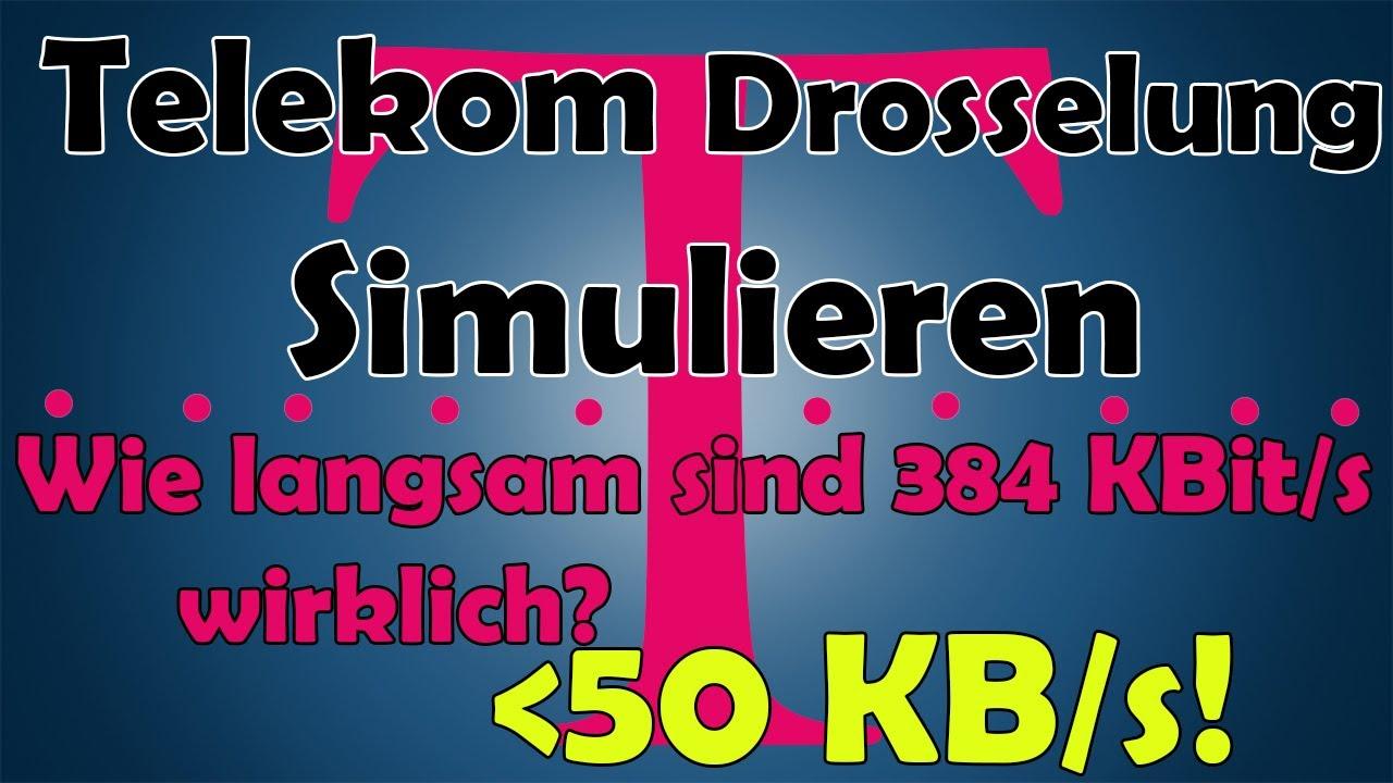 Telekom Gedrosselte Leitung Simulieren Wie Langsam Sind 384 Kbits