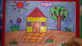 Vẽ ngôi nhà thân yêu của bé  [ Dạy bé yêu tập vẽ ]