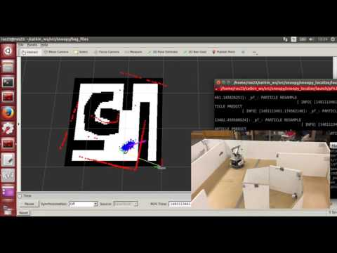 Particle Filter Localization on a Mobile Robot with ROS