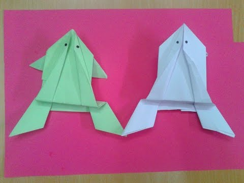 How To Make A Paper Origami Jumping Frog Simple Easy HD