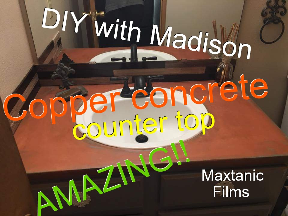 DIY Making A Copper Concrete Counter Top With Madison   YouTube