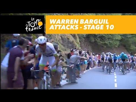 Warren Barguil attacks! - Stage 10 - Tour de France 2018