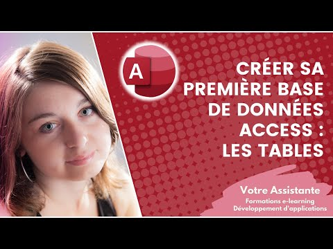 Créer sa première base de données Access - Création d'une table (1/4)