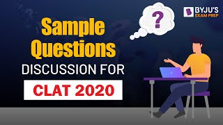 CLAT 2020 Sample Questions Discussion on Paper 1   New Pattern & Syllabus   Tips & Tricks
