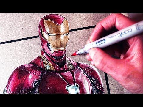 Let S Draw Iron Man Avengers Infinity War Fan Art Friday Youtube