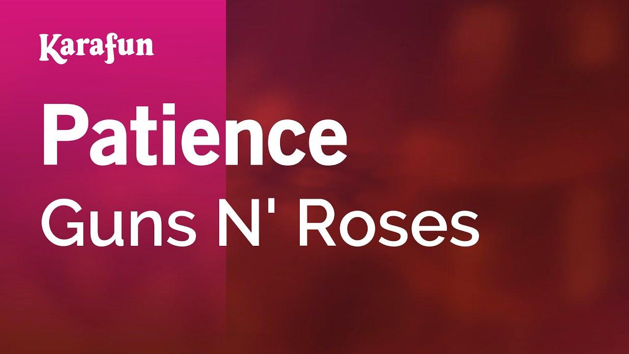 Karaoke Patience Guns N Roses Youtube