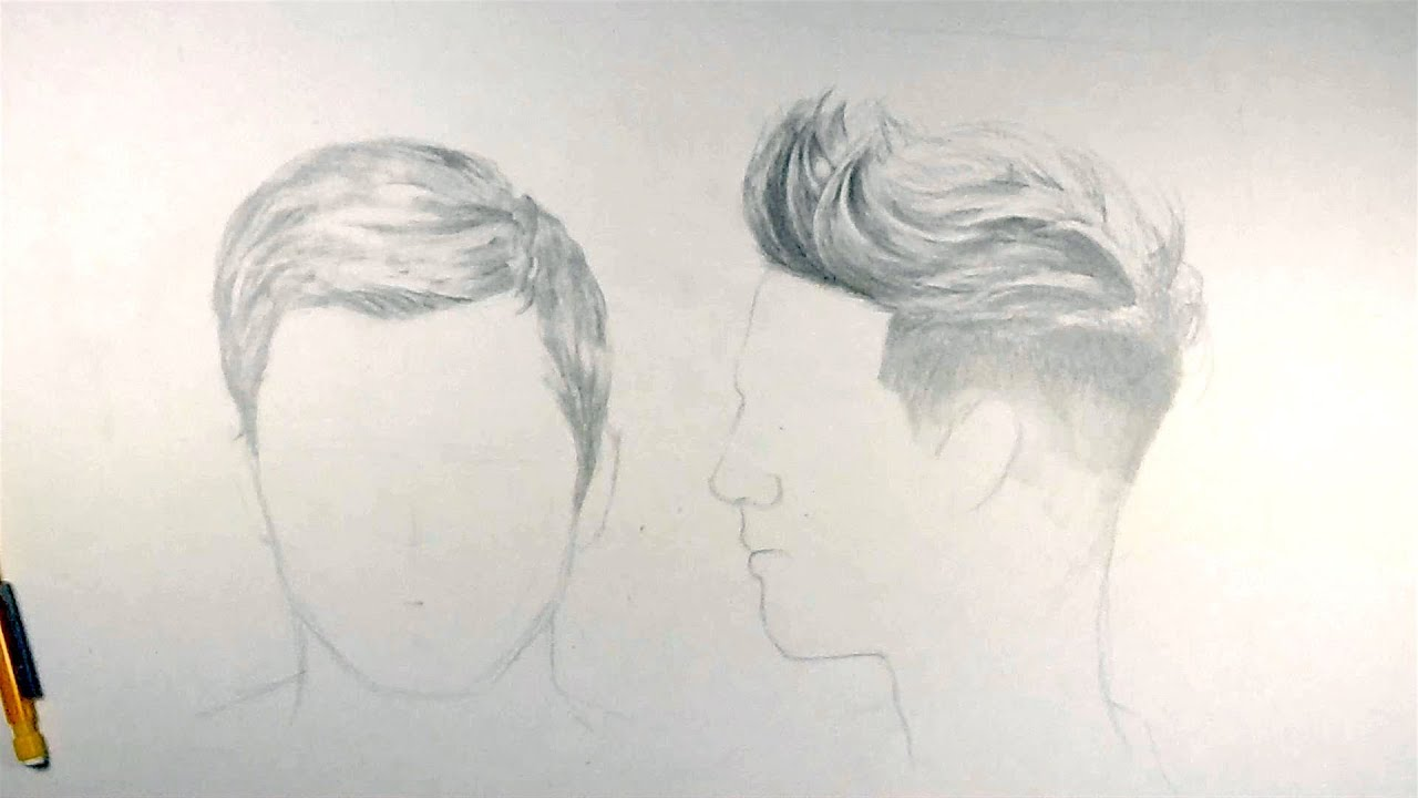 How To Draw Short Hair Youtube