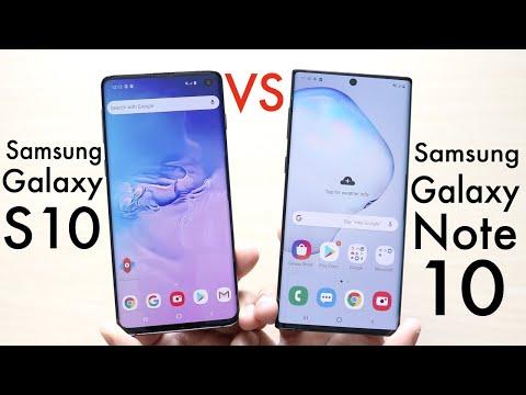 Samsung Galaxy Note 10 Vs Samsung Galaxy S10