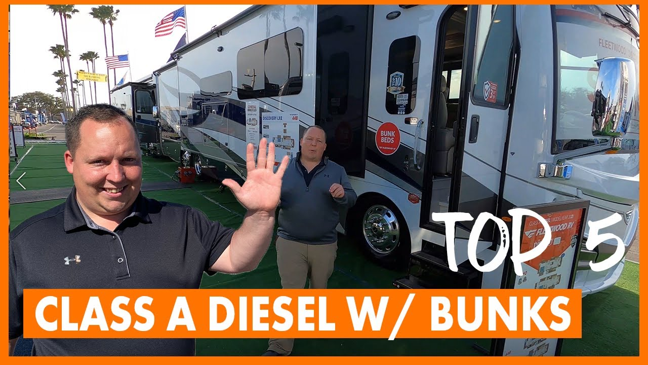 Top 5 Class A Diesel Pushers With Bunk Beds For 2021 Youtube