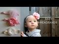 DIY Повязки на голову для девочек. Baby headbands