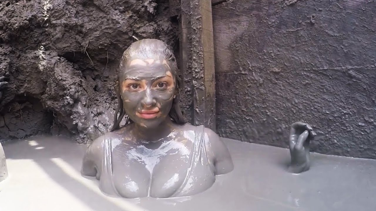 nude mud bath video