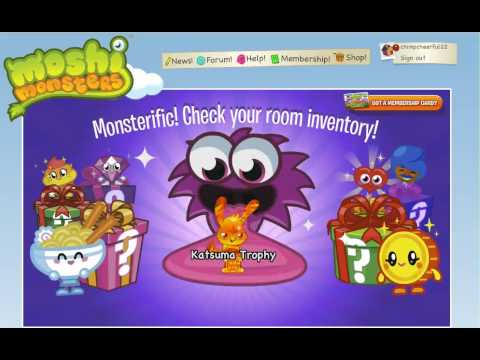 Moshi Monsters- Unlocking Moshi Monsters Secret Code For Golden Trophies!