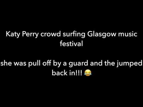 Glastonbury Katy Perry crowd surfing..... exposed thumbnail