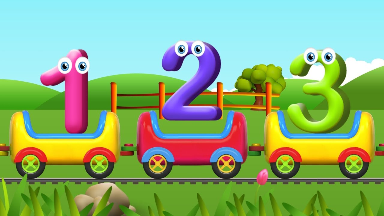 Numbers Song for Children | Learn to Count with Numbers Train - YouTube