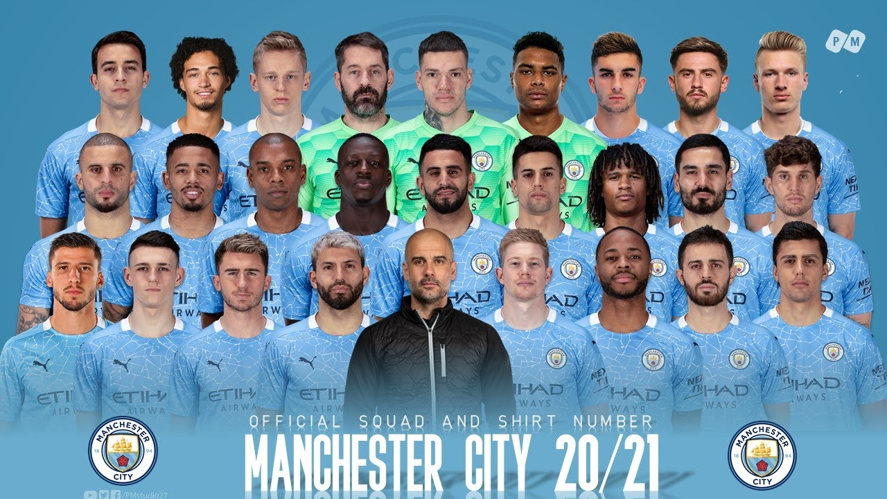 Manchester City 2020/21: Official Squad and Shirt Number
